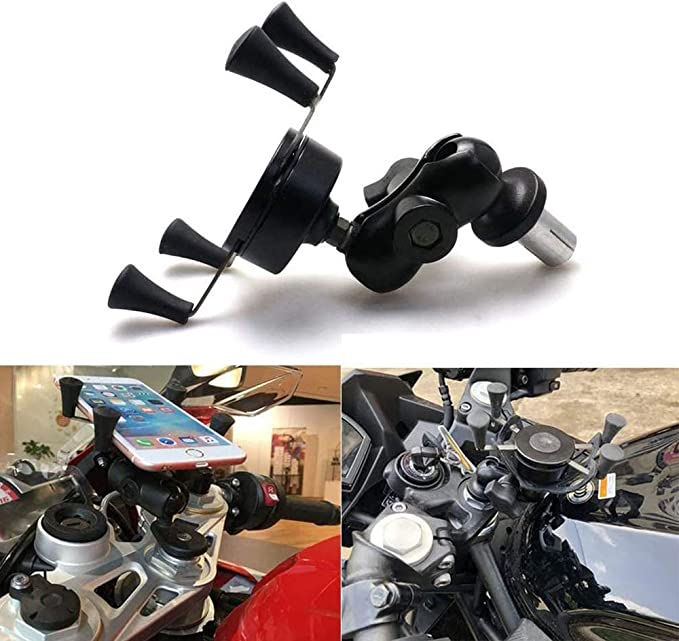 Motorcycle Adjustable Phone Mount Handlebar Cell Phone Holder for Yamaha YZF R1 02-17 R6 06-17 BMW S1000RR HP4 2010 2014 2015 2017 2018