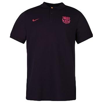 Nike FC Barcelona – Polo para hombre, color morado/rosa fútbol fútbol Top camiseta