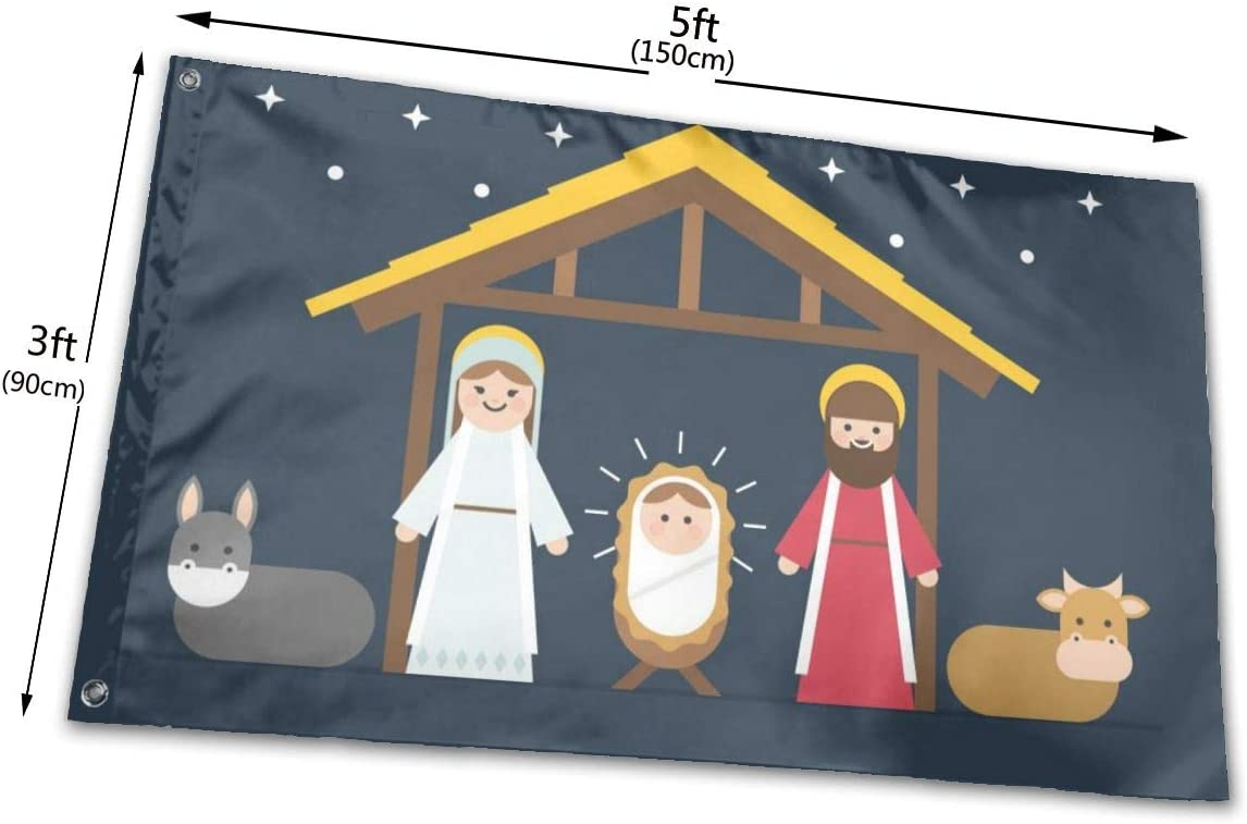 Tlsgcks Christmas Puppy Red Gift Flags 3x5 Foot Polyester Banner Flags 3x5 Ft