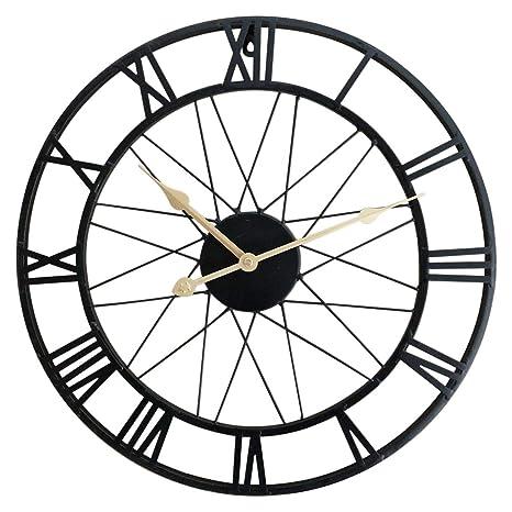 ZUJI Reloj de Pared Vintage, Ø40CM Reloj de Pared Silencioso Reloj de Decoración para Hogar
