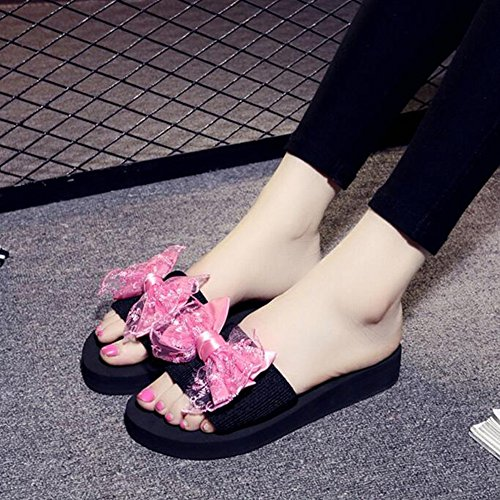 Femmina Waichuan Antiscivolo Spesso Handmade ZHANGRONG Sandali C Tape D Estiva Colore Stretch Bowknot Fondo Con Sandali Pantofole Moda zpB5qwYY