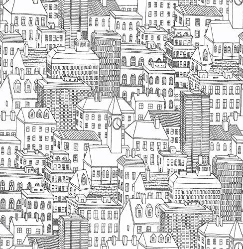 NuWallpaper NU2091 Metropolis Peel and Stick Wallpaper, 10.25