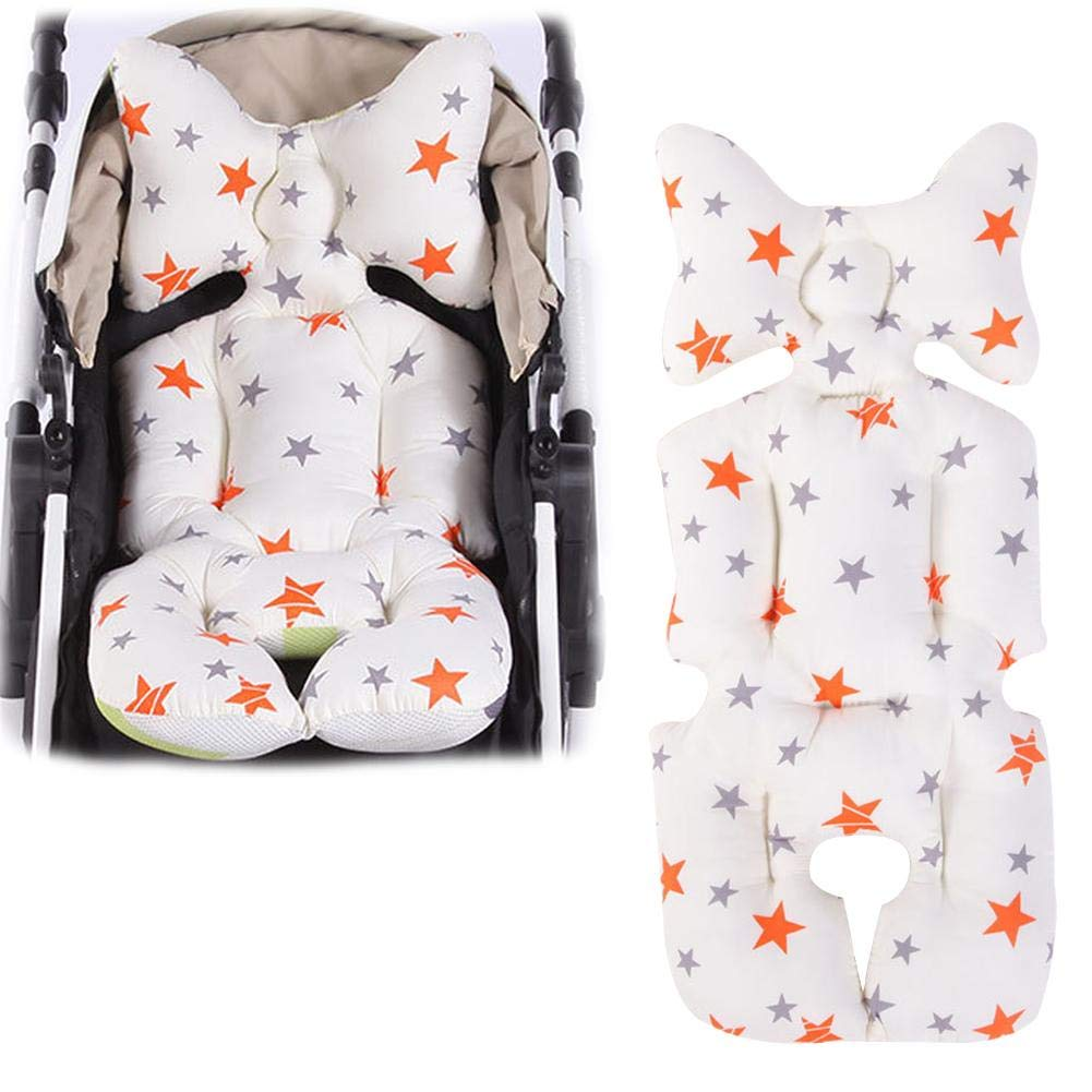 Househome Luxury Pushchair Seat Liner, Universal Soft & Reversible Baby Pure Cotton Stroller Car Seat Liner Pram Insert