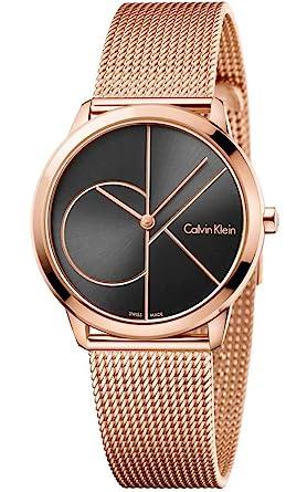 haut de gamme authentique 2019 authentique pas cher pour réduction Calvin Klein Femme Analogique Quartz Montre avec Bracelet en Acier  Inoxydable K3M22621