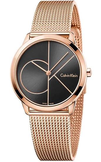 Calvin Klein Reloj Analogico para Mujer de Cuarzo con Correa en Acero Inoxidable K3M22621: Amazon.es: Relojes