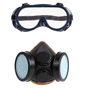 b87553a13b8cfc Demiawaking respiratoire Masque et lunettes de natation anti poussière  chimique Musc Bombe de peinture au gaz