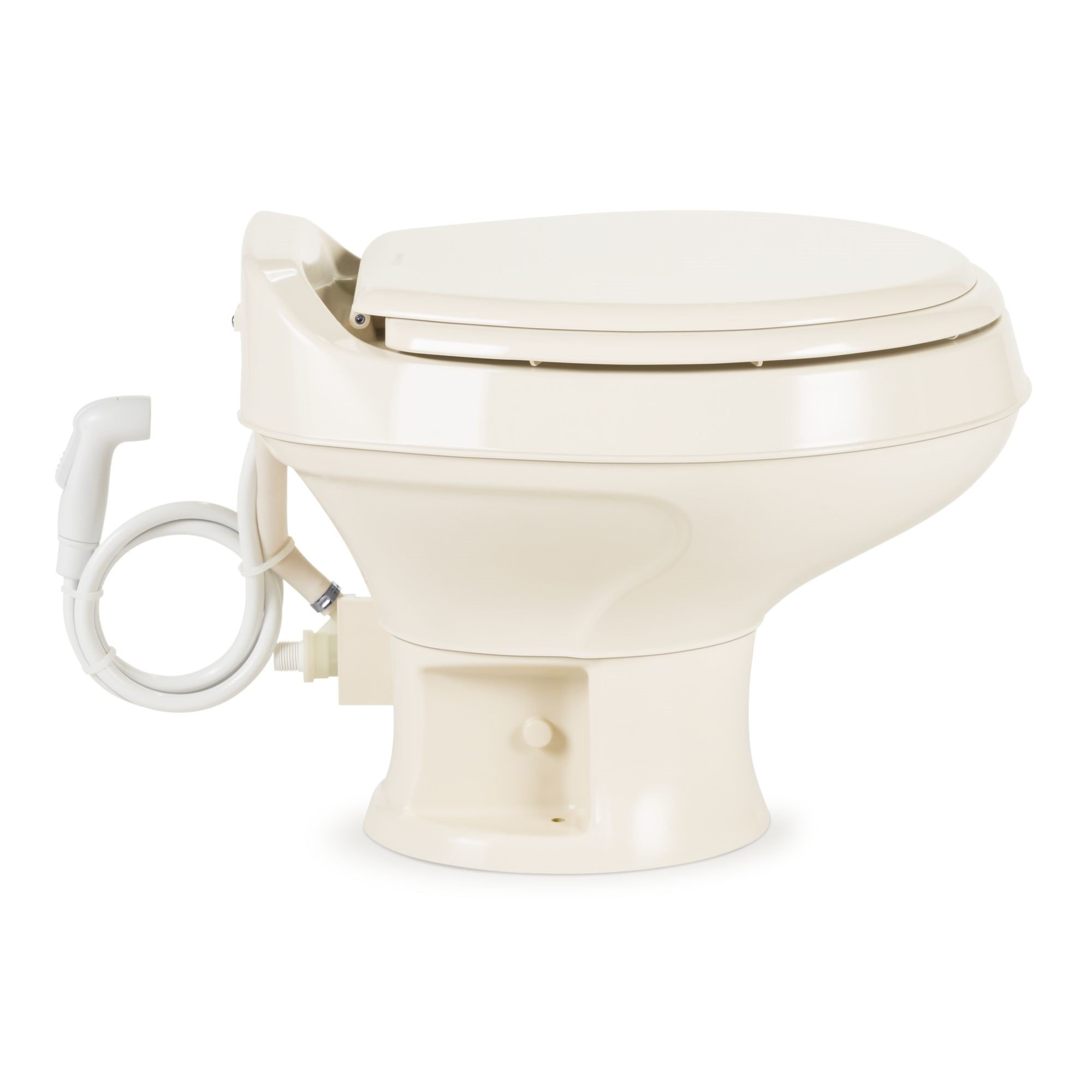 Dometic 300 Series Low Profile Toilet w/ Hand Spray, Bone by Dometic (Image #2)