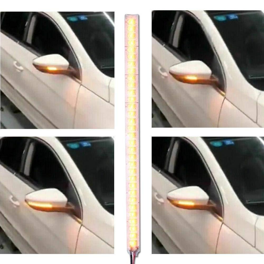 wonderday Voiture Clignotant Feux De Jour 15//18//28 CM Bandes Feux Diurnes Flexibles 2pcs Tube Lumineuse LED pour Phares De Voiture Clignotant Feux Arri/ère