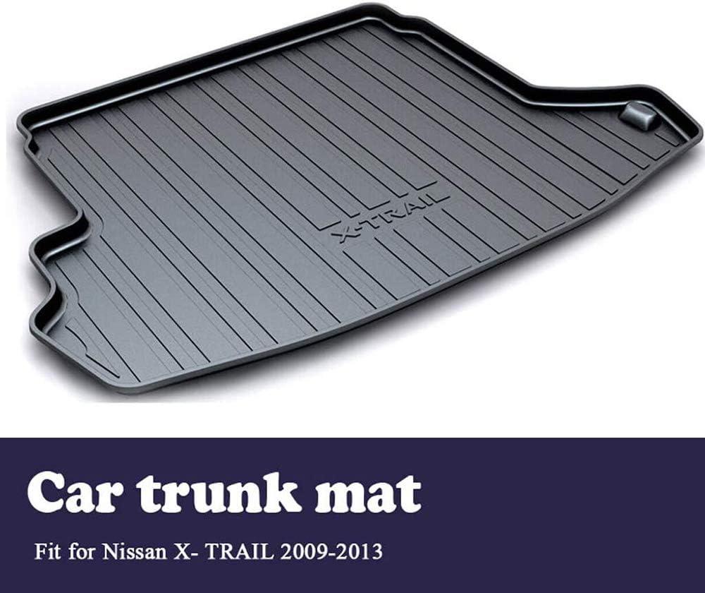 Tapis Sol Plateau /à Bagages Boue Coup Pied sur Mesure DENGD pour Nissan X-Trail T31 2009 2010 2011 2012 2013 Tapis Arri/ère De Coffre