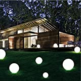 LED Ball Light, Rechargeable Remote Control Cordless 16 RGB Colors Decorative waterproof Ball Lights Indoor Outdoor Lighting Night Lights for Home Garden(5inch-sphere)