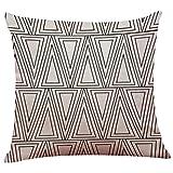 Decorative Pillow Cover - Pillow Case Cotton Linen Cushion Cover Vintage Black & White Couch Throw Pillow Case Sofa Home Decor Patio Pillow Cover, Hidden Zipper Closure (E)