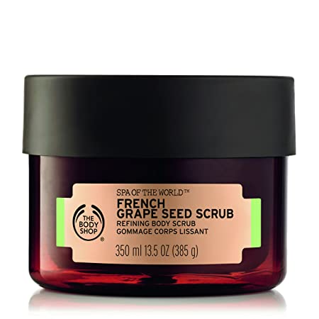The Body Shop Spa of The World French Grape Seed Body Scrub, 13.5 Ounce