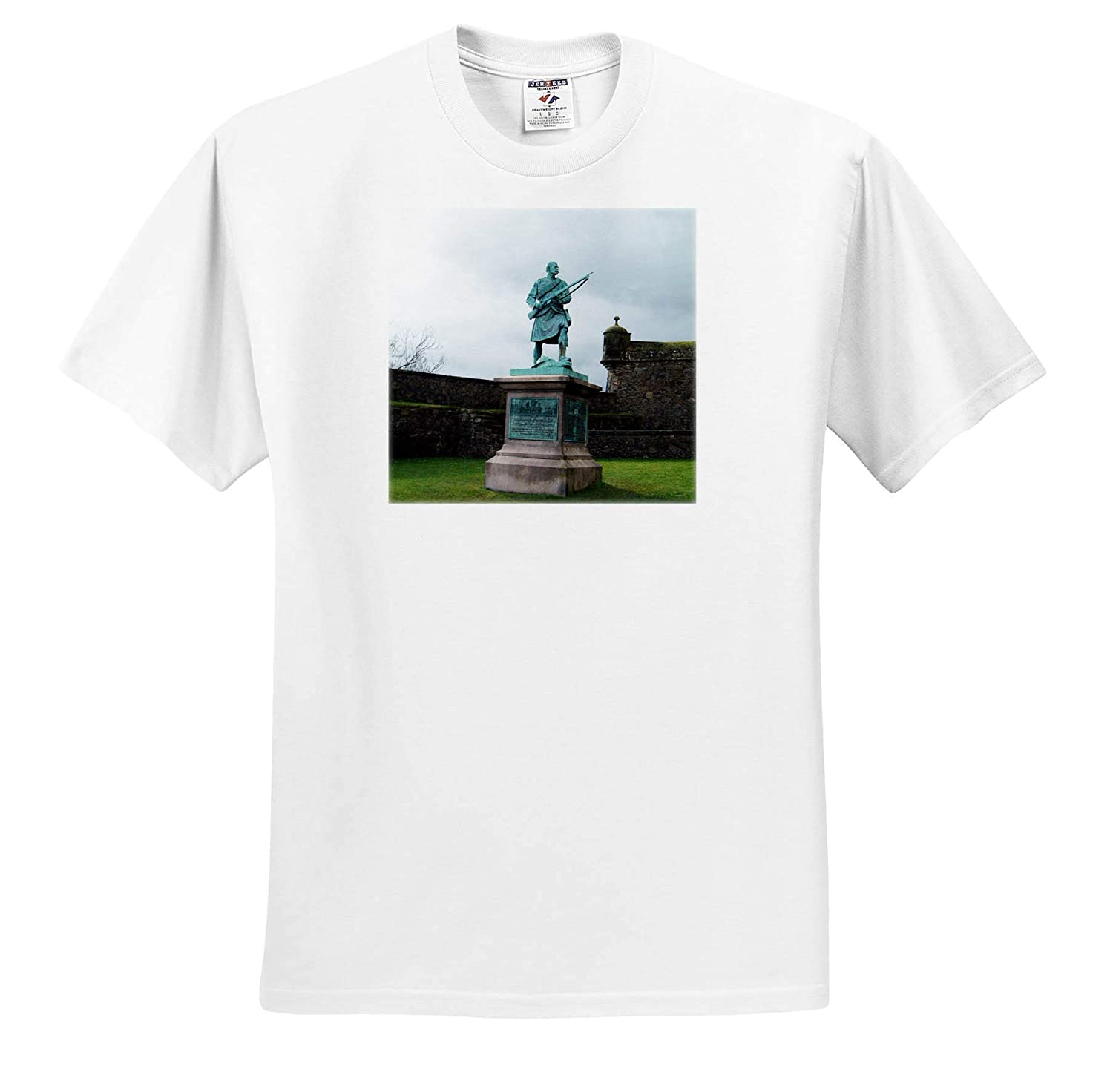 T-Shirts Statue at Stirling Castle A Statue in Scotland at The Stirling Castle 3dRose Jos Fauxtographee