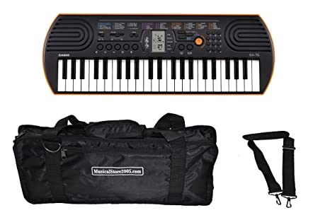 Casio Student Pack SA76 teclado Mini 44 teclas/bolsa