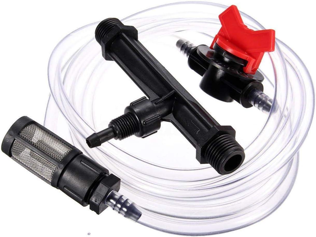 3//4/'/' Garden Irrigation Venturi Fertilizer Kit Injector Water Tube Switch Filter