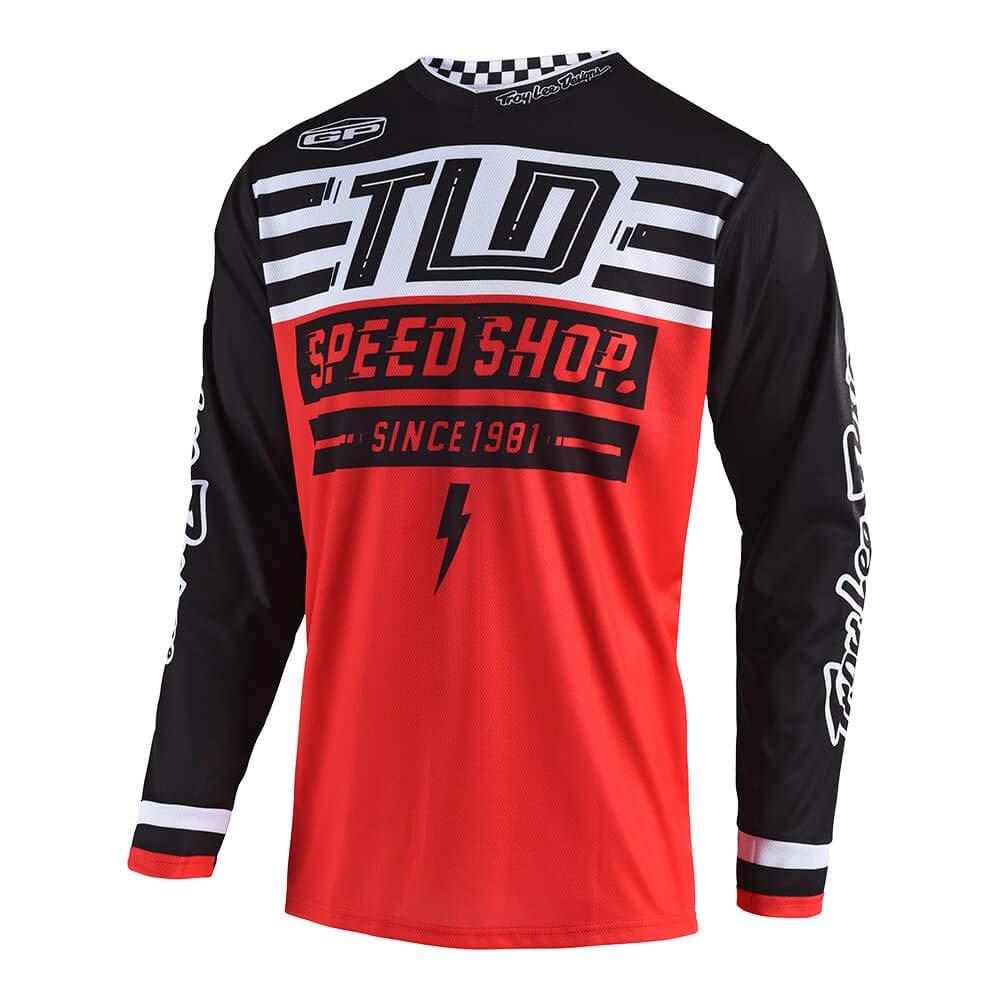 Troy Lee Designs Mens Off Road Motocross GP Air Jersey Bolt (Black, Large) 304190014