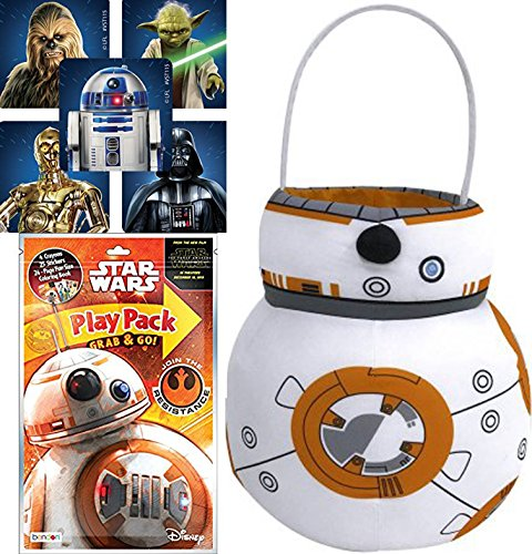Star Wars BB8 Droid Plush Basket Play Pack Fun Force Awakens Coloring, Stickers (Pop Culture Halloween Costume Ideas)