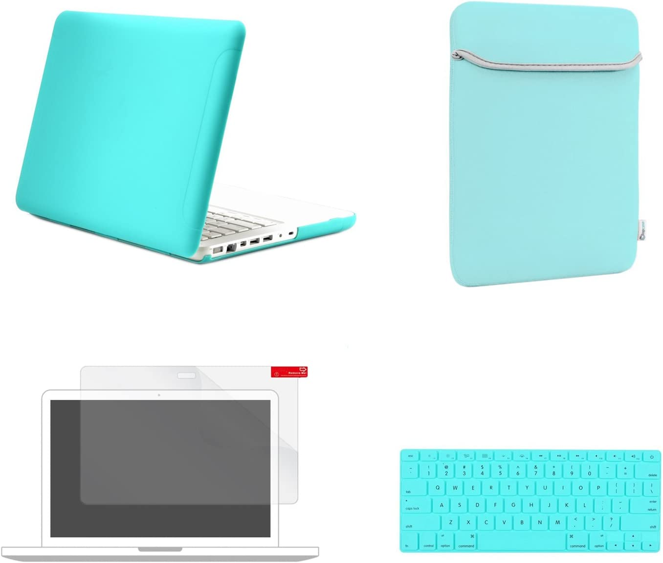 4-IN-1 Laptop Bag for Macbook Air Pro 13 2018 Matte Hard Case Keyboard Cover LCD
