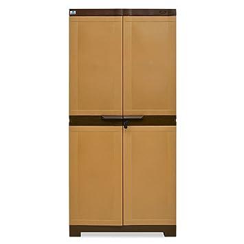 159d5347be8f Nilkamal Freedom Mini 18 (FMSC18) Plastic Shoe Cabinet (Sandy Brown   Dark  Brown)  Amazon.in  Home   Kitchen
