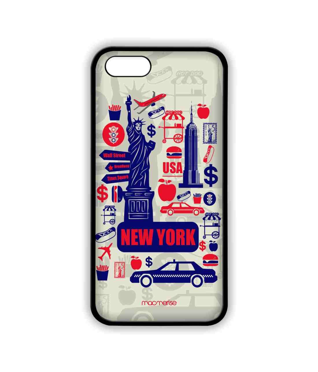 brand new 24678 4a5a0 Amazon.com: City of New York - Lite Case for iPhone 5/5S: Cell ...