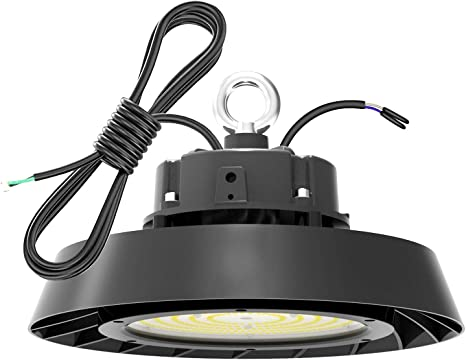Ufo Led High Bay Light 150w 21 000lm 5000k Daylight 400w Hps Mh Equivalent With 6 Power Cord Led Warehouse Lights Commercial Shop Workshop Garage Factory Lowbay Area Lighting Fixture Home Improvement