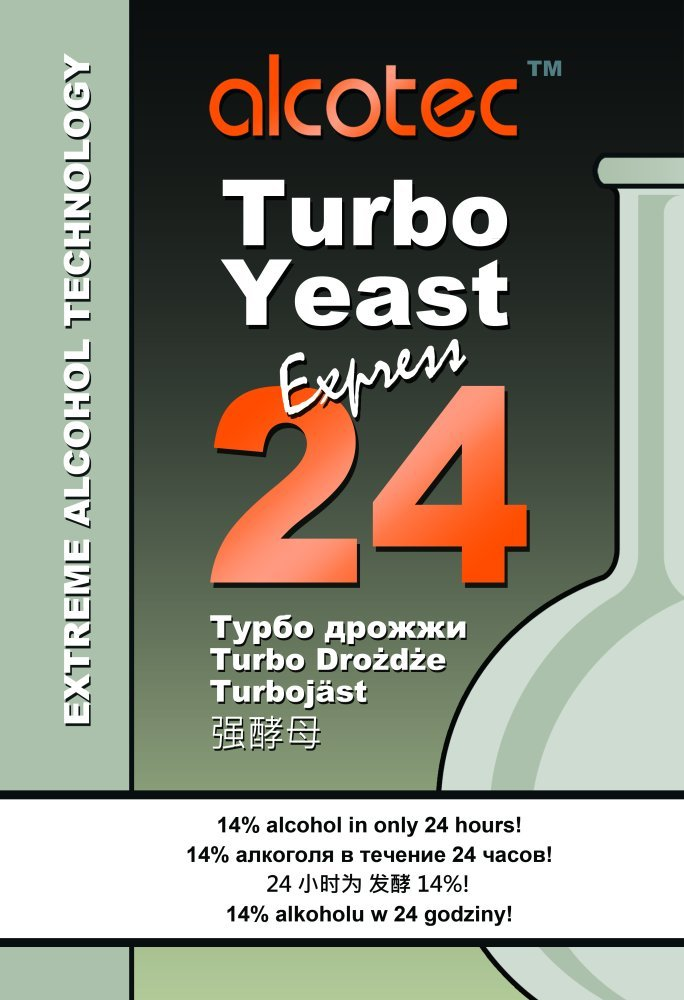 Turbo de levadura - TURBO 24 horas Alcotec - de alta Alcohol/espíritu de levadura/Vodka levaduras/Moonshine/medidor de Alcohol: Amazon.es: Hogar