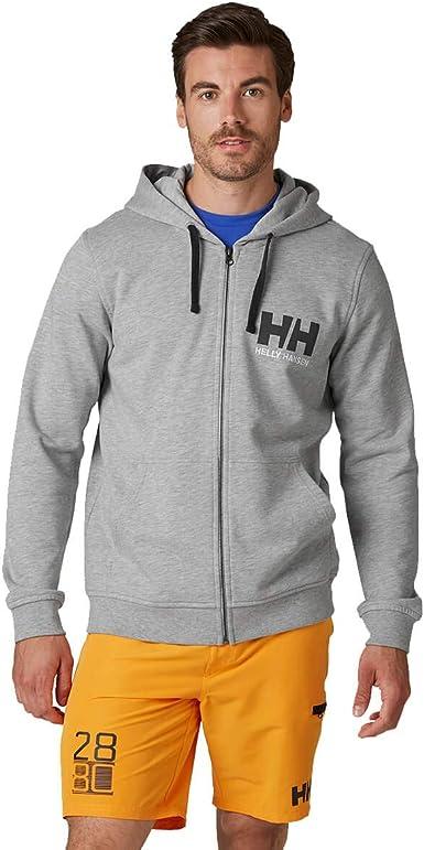 Hombre Helly Hansen HH Logo Full Zip Sudadera con Capucha