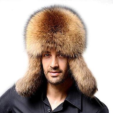 Mens Winter Warm Faux Fur Hats Earmuffs Earflaps Outdoor Windproof Russian  Cap (Coffee) a0a9d2ee750