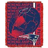 AW NFL Superbowl LI Champion New England Patriots Throw Blanket, Navy Blue Red