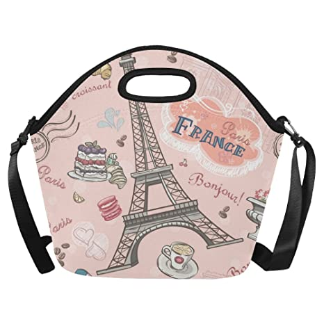 e0fe3362211b Amazon.com: InterestPrint Large Insulated Lunch Tote Bag Paris ...