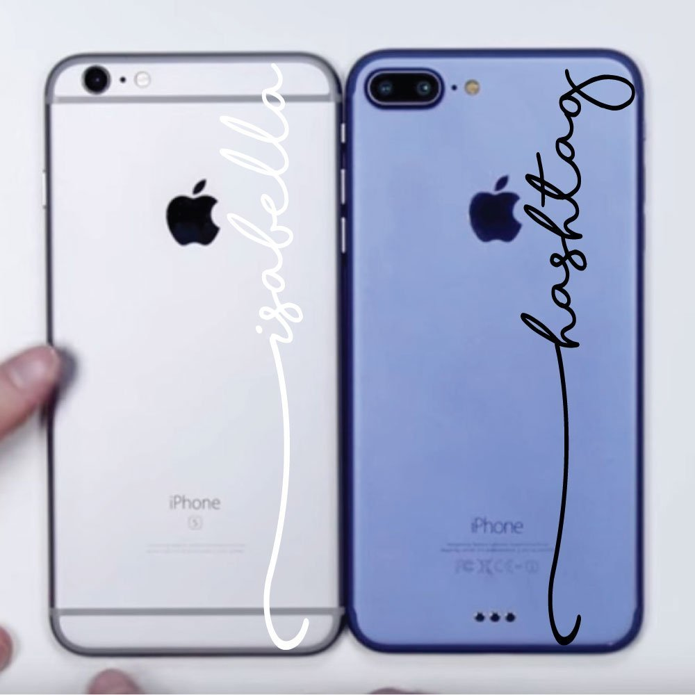 Amazon com iphone personalized name stickers vinyl word art word art decals handmade