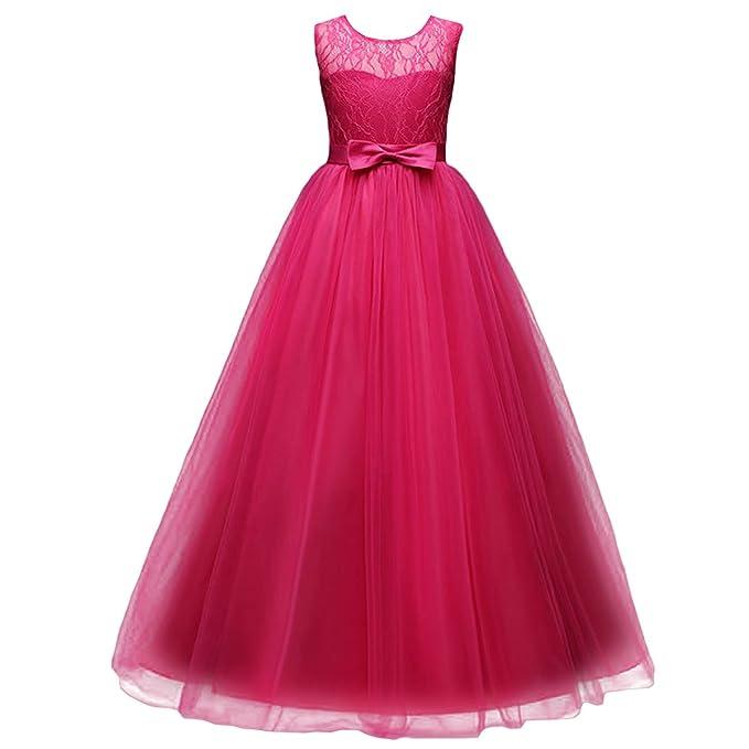 b02a9553774fb8 Mädchen Kinder Mit Kleider Blumenmädchenkleider Hochzeitskleid Maxikleid  Festlich Brautjungfern Kleid Prinzessin Hochzeit Abendkleid Party Maxi ...