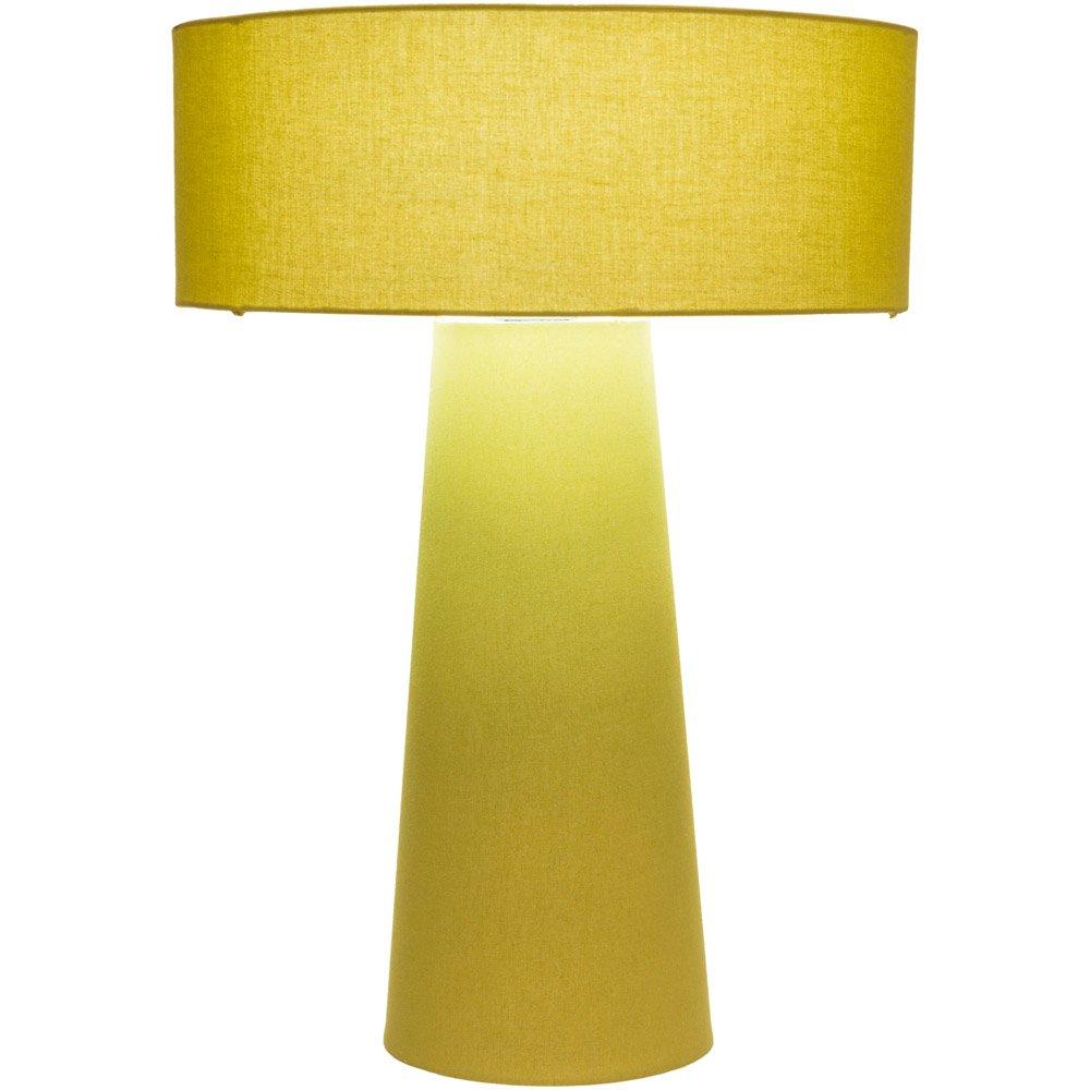 Amazon Com Zuri Furniture Ilum Cotton Shade Table Lamp Yellow