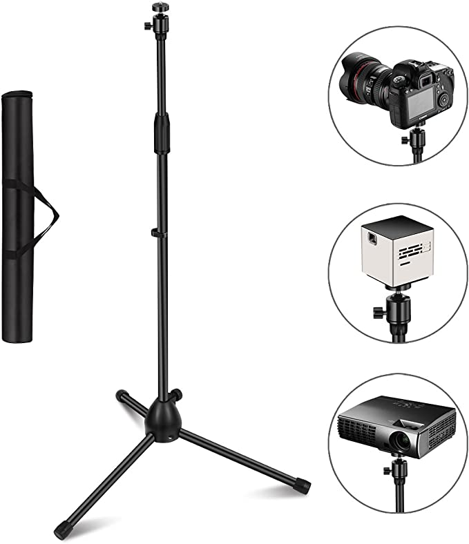 Projector Stand, Thustar Portable Tripod Stand Lightweight Adjustable Height 29.5
