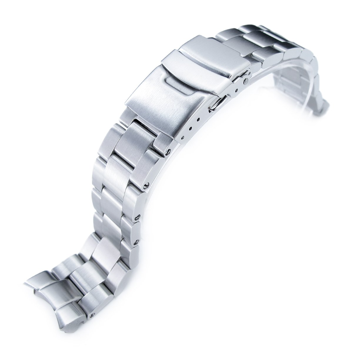 20mm Super Oyster Watch Bracelet Replacement for Seiko SKX013, Brushed 316L SS by MiLTAT
