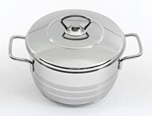 Korkmaz A1901 Stainless Steel Cooking Pot, Silver - 2 liter