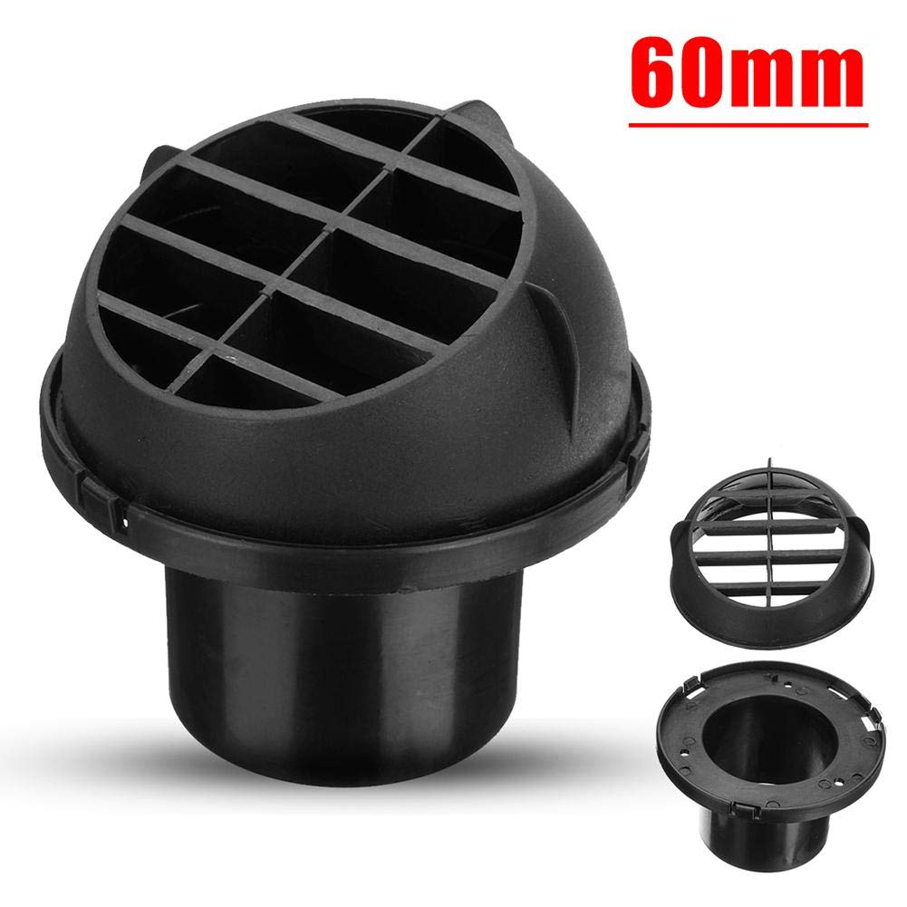 Car Heater Duct Warm Air Vent Outlet, Dashboard AC Heater Air Vent Duct Chrome Air Vent Outlet 60mm blue--net