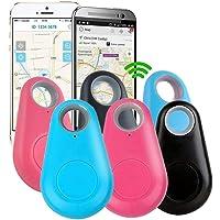 Glomab 6 Unids Localizador de Buscadores de Llave Inteligente Gota de Agua Anti Perdió Bluetooth, Mascotas Clave Monedero Coche Bolsa de Niños Alarma de Teléfono