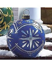 JICINME Utomhus jul pvc uppblåsbar dekorerad boll – god jul, 60 cm jul uppblåsbar boll, enorm julbeställning, julgransdekorationer