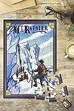 Mt Rainier, Washington - Ice Climbers (8x12 Premium Acrylic Puzzle, 63 Pieces)