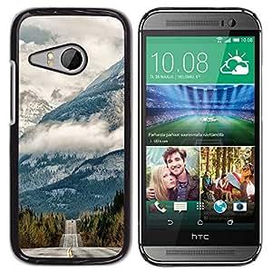 Be Good Phone Accessory // Dura Cáscara cubierta Protectora Caso Carcasa Funda de Protección para HTC ONE MINI 2 / M8 MINI // Clouds Alaska Nature Road Free