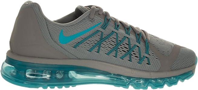 Nike Air MAX 2015, Zapatillas de Running para Hombre, Gris Azul Negro Cool Grey Blue Lagoon Black, 44 1/2 EU: Amazon.es: Zapatos y complementos