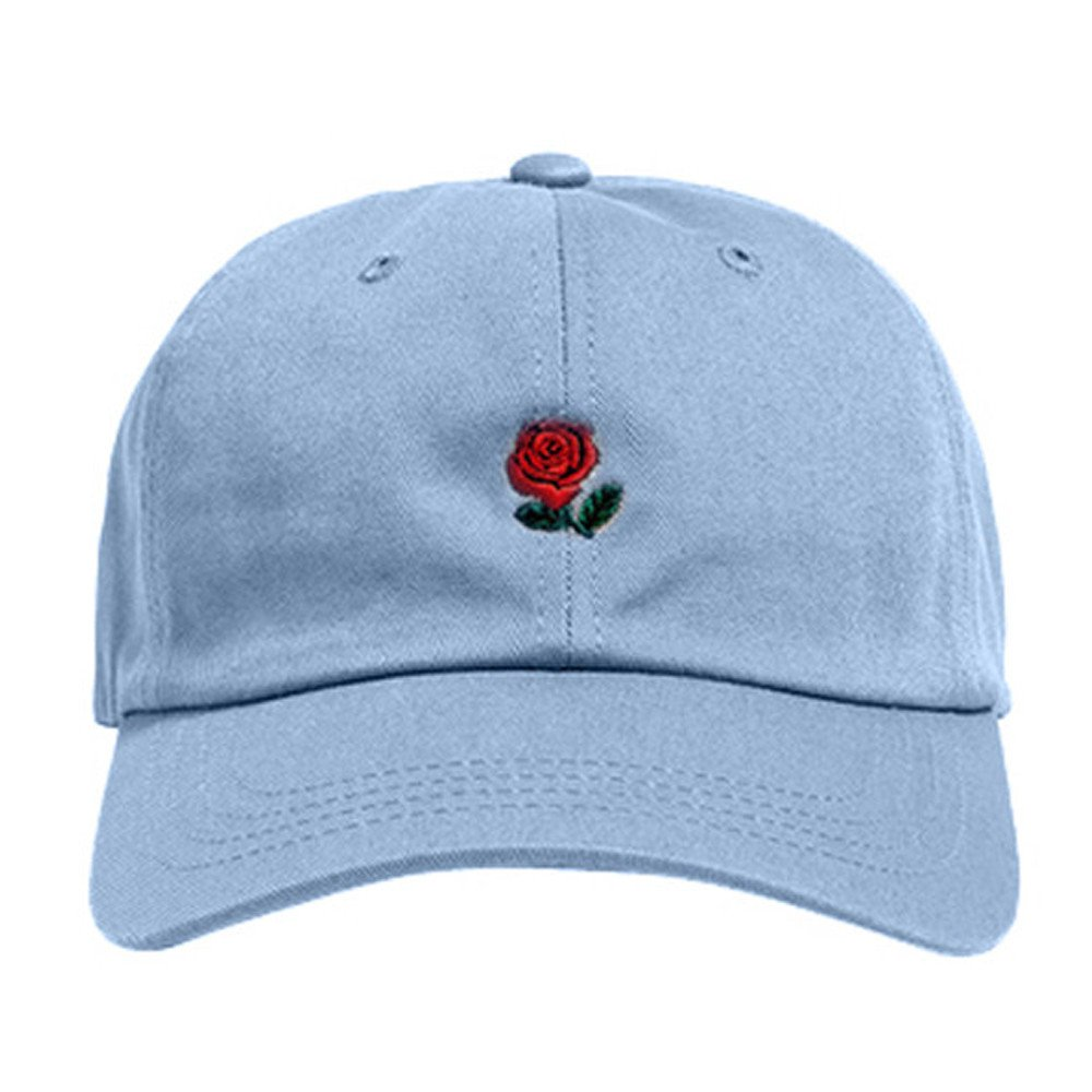 Amazon.com  KFSO Rose Embroidered Dad Hat Women Men Cute Adjustable Cotton  Floral Baseball Cap (Khaki)  Arts d0cae7f7a0d