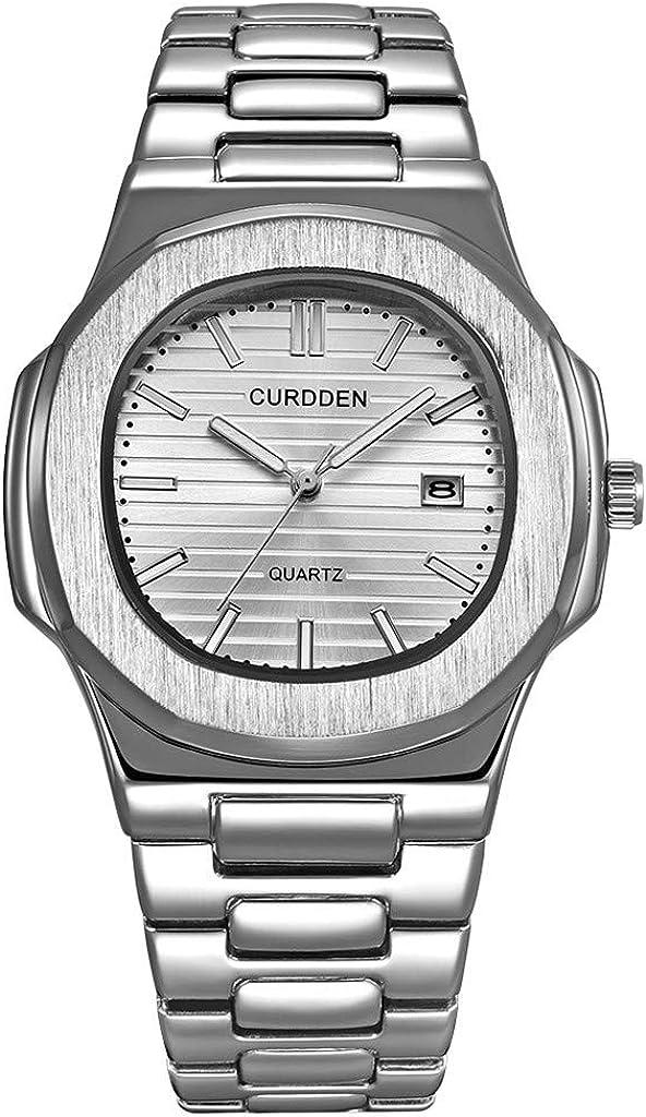 Acero Inoxidable Luxury Hombre Fashion Nautilus Analógico Deporte Quartz Wrist Relojes