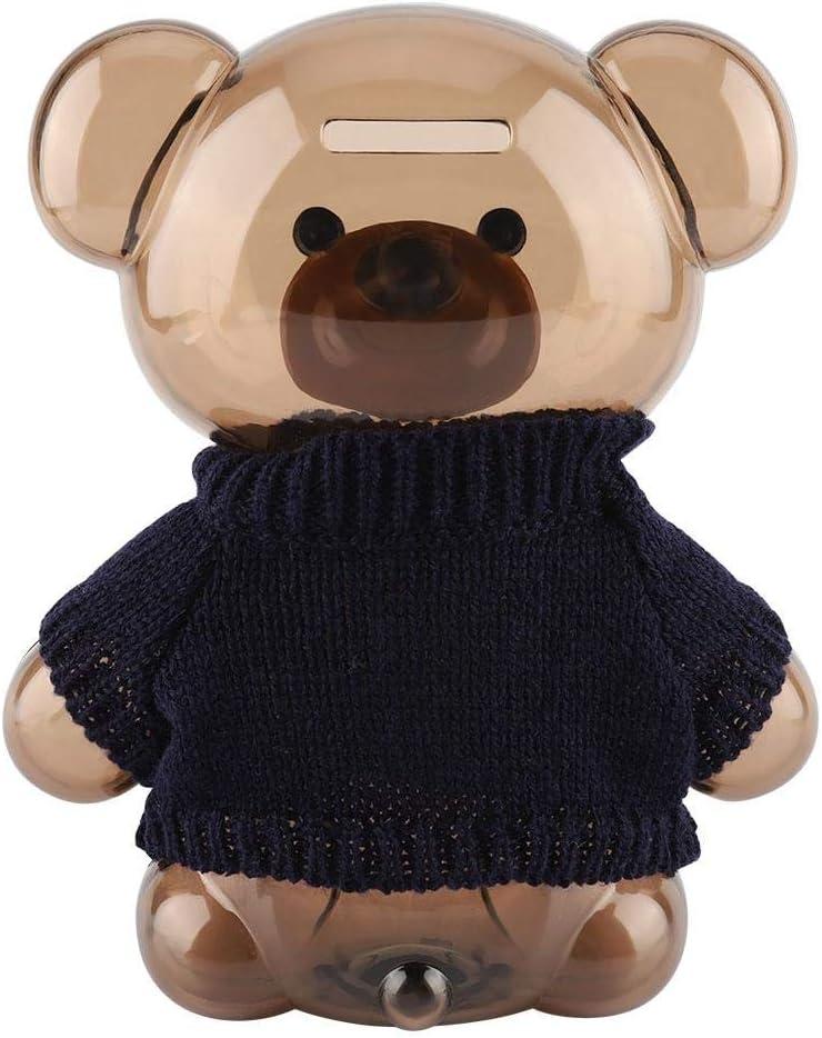 Dessin anim/é v/êtements Bear Money Box Saving Box pour la Collecte pour Le Cadeau /à des Amis Beige Clothing Transparent Bear Annadue Mignon Bear Bank Bank