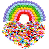 Outus Pompoms for Craft Making and Hobby Supplies, 8 mm, 1000 Pieces, Assorted Colors from Outus