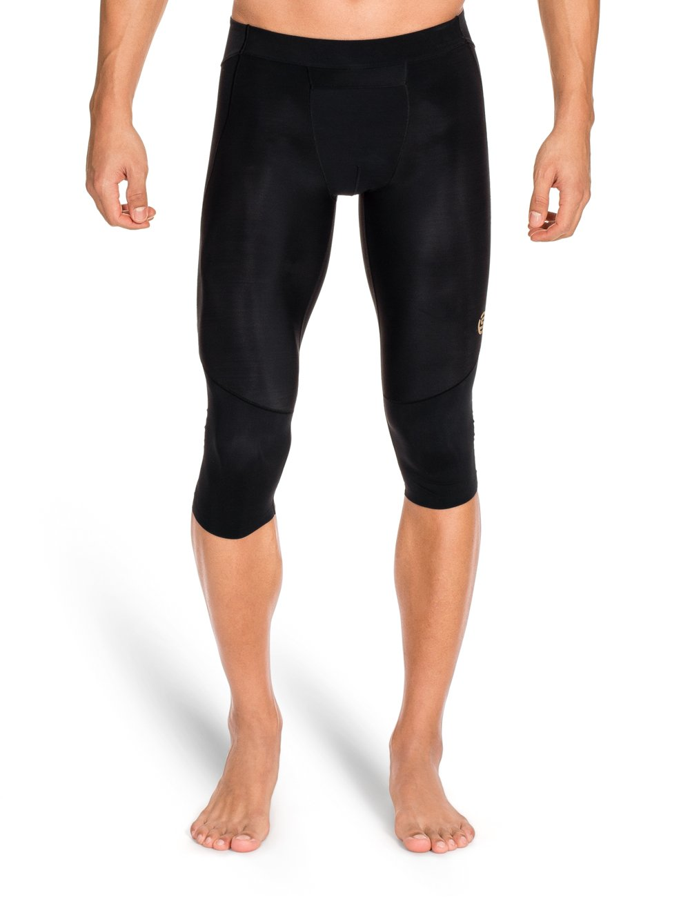 Skins Men's A400 Compression 3/4 Tights, Black, Small
