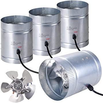 """110V//220V 4/"""" 6/"""" Duct Booster Inline Blower Fan Exhaust Ducting Air Cooling Vent"""