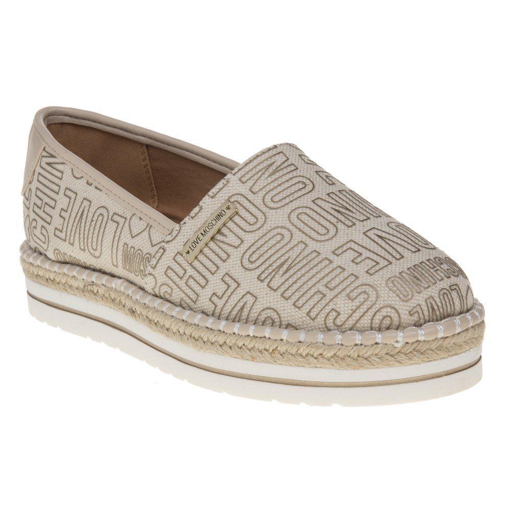Love Moschino Women's Shoes Beige Espadrilles Spring Summer 2018