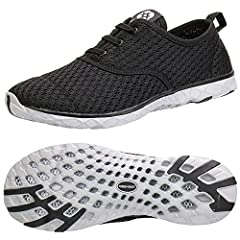 Soft Breathable and Quick Dry Mesh UpperMesh offer double accelerated quick dry,and allow the foot to breathe.-Easy On and Off Slip On with Elastic The shoelace build from closed elastic offer easily on and off,protecting your foot from dropp...